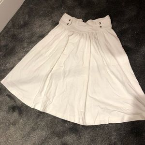 Vintage cotton pleated skirt